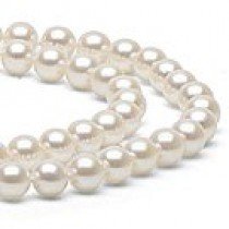 18-inch Double-Strand Akoya Pearl Necklace 7.5-8 mm white