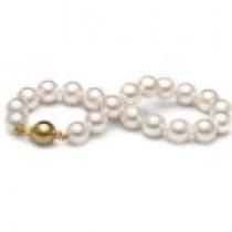 7-inch Akoya Pearl Bracelet 9-9.5 mm AA+ or AAA White