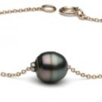 Tahitian Baroque Pearl Bracelet on 14k Gold chain