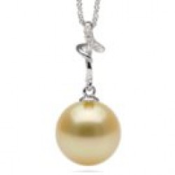 DARLING Sterling Silver Golden South Sea Pearl Pendant