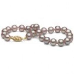 7-inch Freshwater Pearl Bracelet 6-7 mm Lavender
