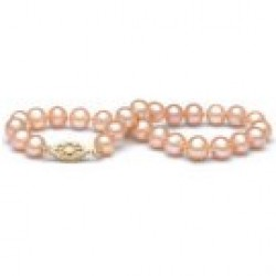 7-inch Freshwater Pearl Bracelet 6-7 mm Pink to Peach