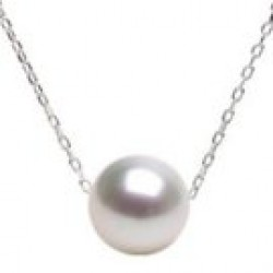 Freshadama Freshwater Pearl on Sterling Silver Chain