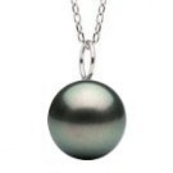 MIGNON Sterling Silver Black Tahitian Pearl Pendant