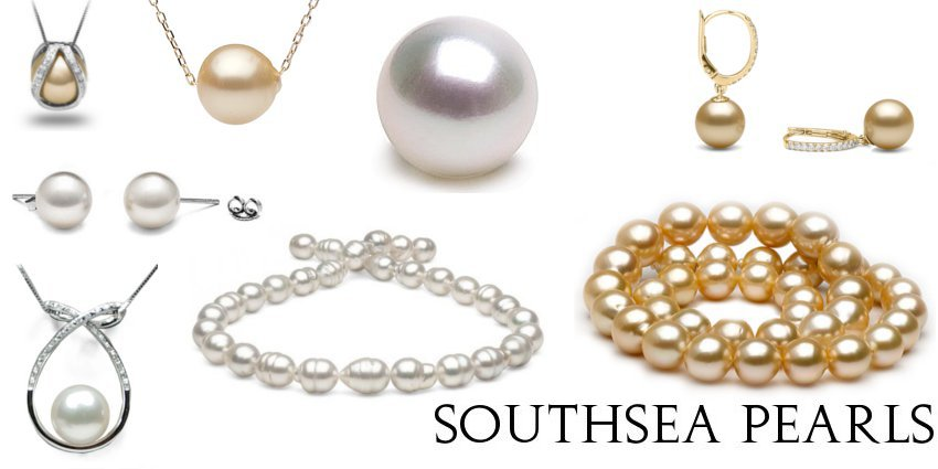 White and Golden SouthSea Pearls
