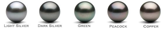 Black Tahitian pearl overtones